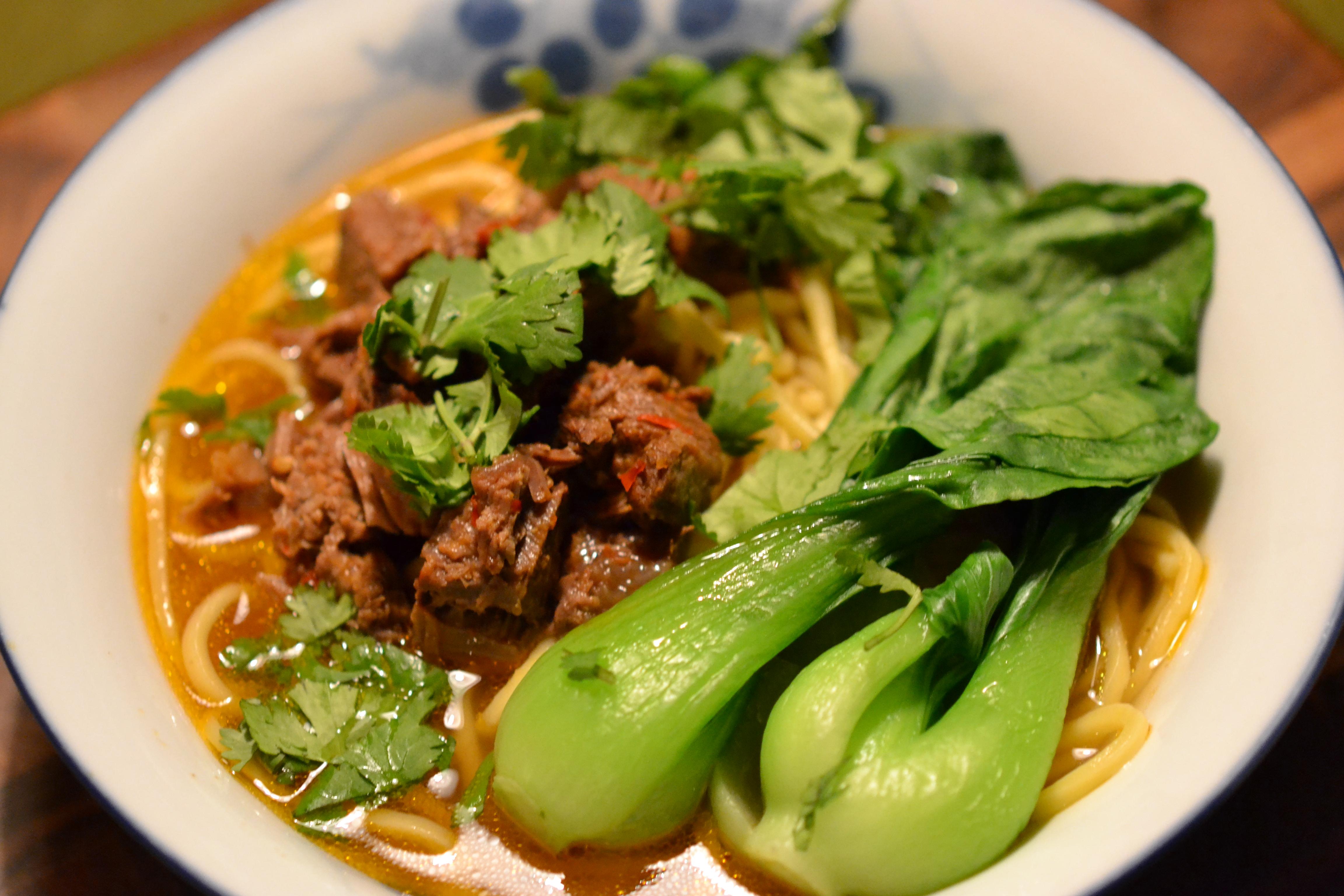 Taiwanese Beef Noodle Soup (Niu Rou Mian)