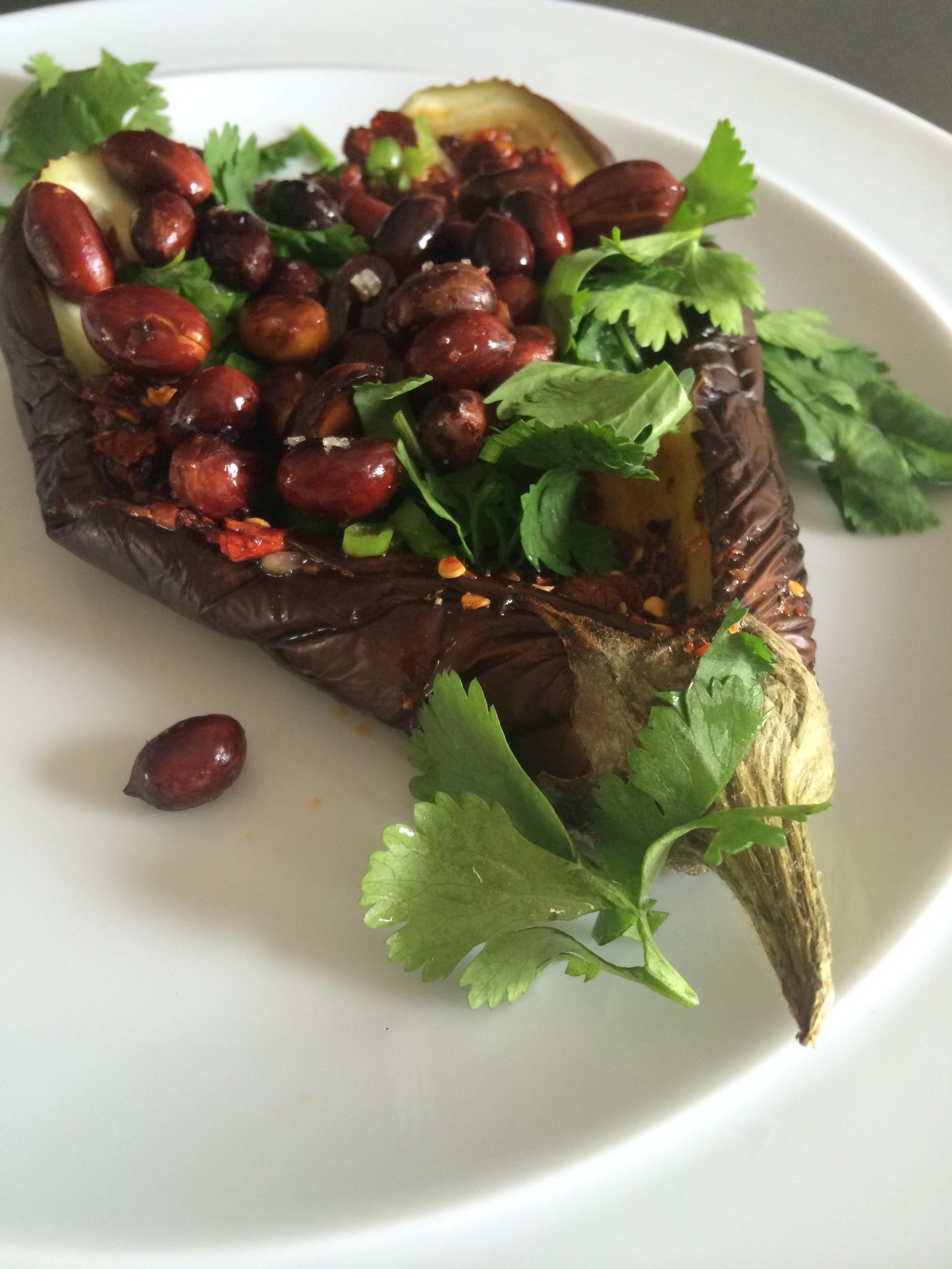 Dali Grilled Eggplant with Chili bean sauce