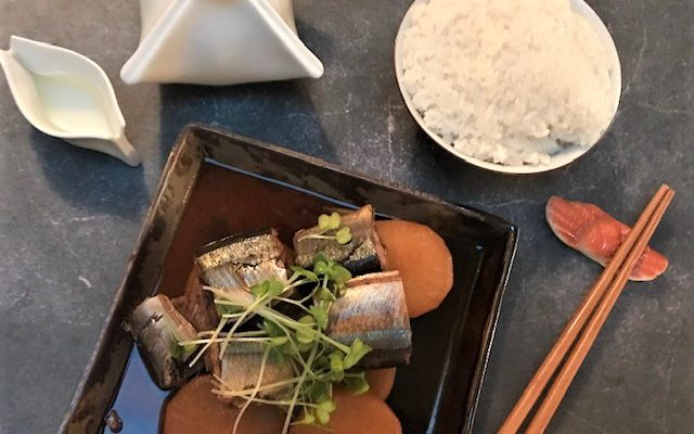 Sanma No Nitsuke – Soy Simmered Pacific Saury with Ginger